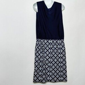 Jude Connally Dress Chain Linked Navy Size Large